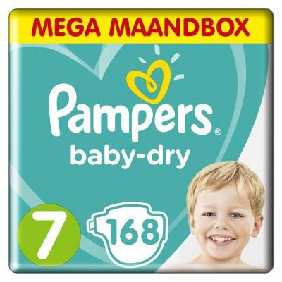 Pampers - Baby-Dry - Maandbox - Maat 7